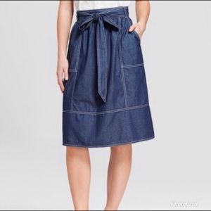 Universal Thread • Chambray Midi Skirt New